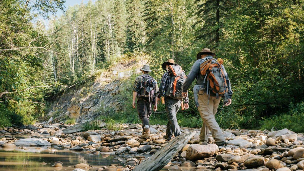 Hiking On River Travel Alberta