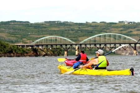 Kayakers And Bridge Laurie Stavne