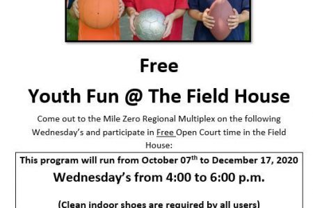 Free Youth Fun At The Fieldhouse