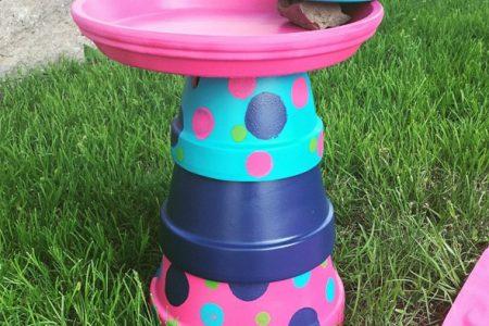 Terracotta Pot Bird Bath Bird Feeder Diy