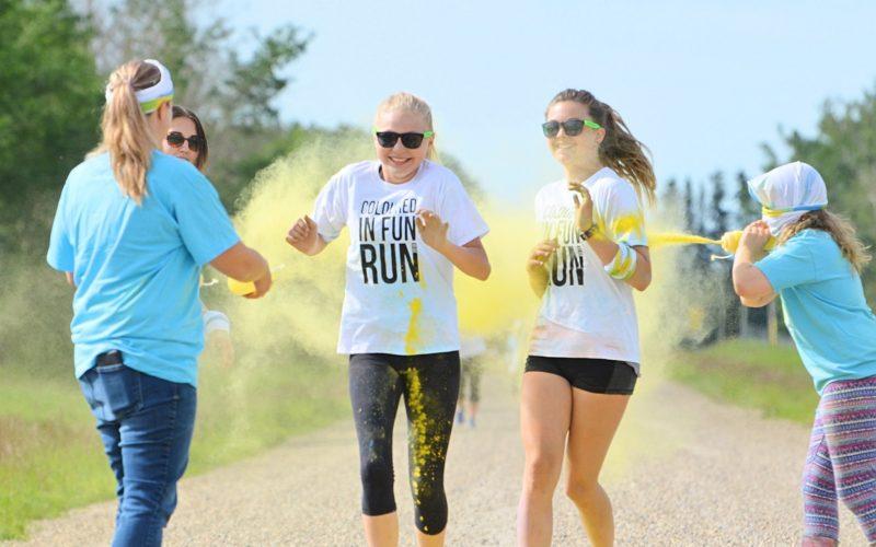 Coloured in Fun Run