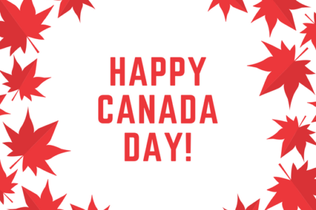 White And Red Canada Day Card